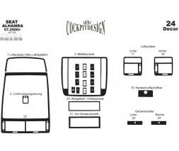 Seat Alhambra 1996-2010 гг. Декоративная накладка на панель Титан