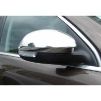 Накладка на зеркала (2 шт, нерж.) Carmos - Турецкая сталь для Seat Alhambra 2010+