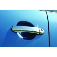 Накладки на ручки (нерж) 4 шт, OmsaLine - Итальянская нержавейка для Seat Ibiza 2002-2009