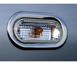 Seat Ibiza 2010-2017 гг. Обводка поворотника (2 шт, нерж)