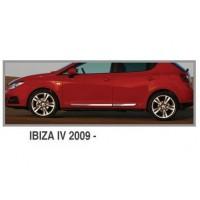Молдинг дверной OmsaLine (4 шт, нерж.) для Seat Ibiza 2010-2017