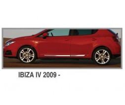 Seat Ibiza 2010-2017 гг. Молдинг дверной OmsaLine (4 шт, нерж.)