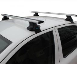 Seat Leon 2005-2012 гг. Перемычки на гладкую крышу (2 шт, TrophyBars)