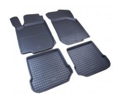 Seat Leon 2005-2012 гг. Резиновые коврики с бортом (4 шт, Polytep)