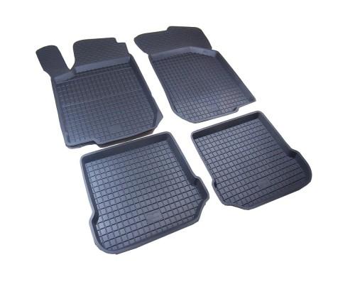 Резиновые коврики с бортом (4 шт, Polytep) для Seat Leon 2005-2012