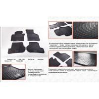 Seat Leon 2005-2012 Резиновые коврики (4 шт, Stingray Premium)