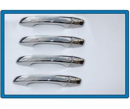 Seat Leon 2013+ гг. Накладки на ручки (4 шт, нерж) Carmos -Турецкая сталь