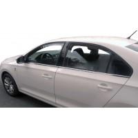 Наружняя окантовка стекол (нерж) для Seat Toledo 2012+