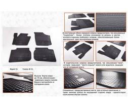 Seat Toledo 2012+ гг. Резиновые коврики (4 шт, Stingray Premium)