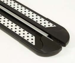 Skoda Kodiaq Боковые пороги Vision New Black (2 шт., алюминий)