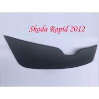 Skoda Rapid 2012+ гг. Зимняя решетка (верхняя) Матовая