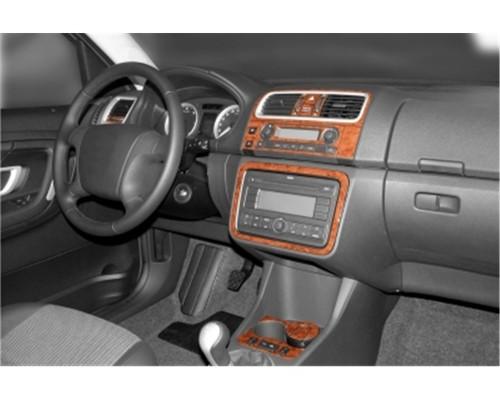 Накладки на панель (Meric) Титан для Skoda Roomster 2007+