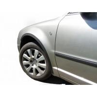 Skoda Superb 2001-2009 гг. Накладки на арки (4 шт, черные) ABS - пластик