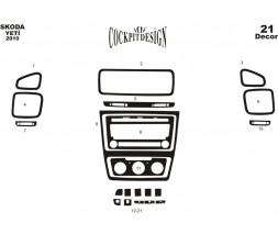 Skoda Yeti 2010+ гг. Накладки на панель Дерево