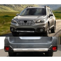 Subaru Outback 2015+ гг. Передняя и задняя накладки V1 (2 шт)