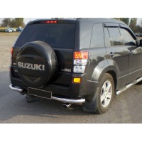 Задняя защита AK003 (нерж) для Suzuki Grand Vitara 2005-2014