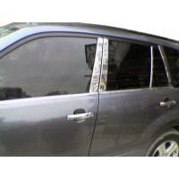 Suzuki Grand Vitara 2005-2014 Молдинг дверных стоек (8 шт, нерж)