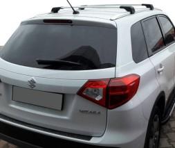 Suzuki Vitara 2015+ гг. Поперечины на интегрированные рейлинги под ключ (2 шт) Серый