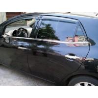 Молдинг стекол (4 шт, нерж) Carmos - Турецкая сталь для Toyota Auris 2007-2012