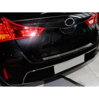 Накладка на задний бампер Натанико (нерж) для Toyota Auris 2012-2015