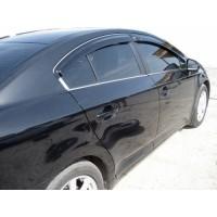 Ветровики SD (4 шт, HIC) для Toyota Avensis 2009+