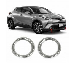 Toyota C-HR Накладки на противотуманки (2 шт, нерж)