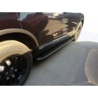 Toyota C-HR Боковые подножки Tayga Black (2 шт, алюм)