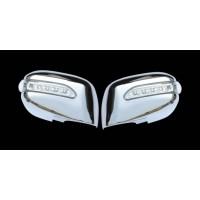 Накладки на зеркала под родной LED (2 шт, пласт) для Toyota Camry 2007-2011