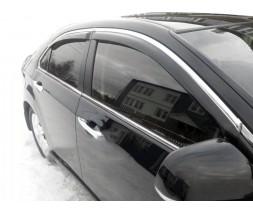 Toyota Camry 2011-2018 гг. Ветровики с хром молдингом (4 шт, HIC)