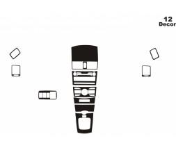 Toyota Corolla 2007-2013 гг. Накладки на панель (тип 2)