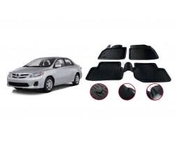 Toyota Corolla 2007-2013 гг. Резиновые коврики (4 шт, Niken 3D)
