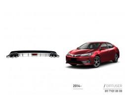 Toyota Corolla 2013-2019 гг. Задний диффузор (Niken)