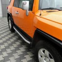 Боковые пороги Fullmond (2 шт, алюм) для Toyota FJ Cruiser