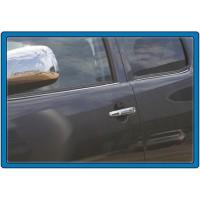 Молдинг стекол (4 шт, нерж) Carmos - Турецкая сталь для Toyota Hilux 2006-2015