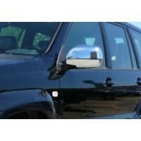 Накладки на зеркала (2 шт, нерж) Carmos - Турецкая сталь для Toyota Land Cruiser Prado 120