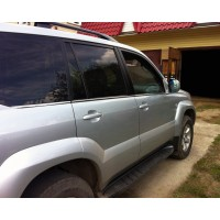 Toyota Land Cruiser Prado 120 Наружняя окантовка стекол (6 шт, нерж) Carmos - Турецкая сталь