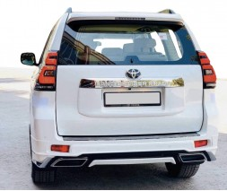 Toyota LC 150 Prado Накладки на передний и задний бампер Modelista V2 (2017-) Белый цвет