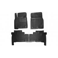 Резиновые коврики с бортом 2012-2021 (Autogumm) для Toyota Land Cruiser 200