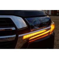 Реснички с LED (2016-2021) для Toyota Land Cruiser 200