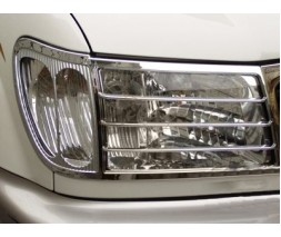 Toyota Land Cruiser 100 Накладки на фары V2 (2 шт, пласт.)