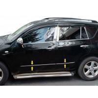 Toyota Rav 4 2006-2013 гг. Молдинг дверей (нерж)