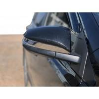 Накладки на зеркала (2 шт, нерж) для Toyota Rav 4 2013-2018