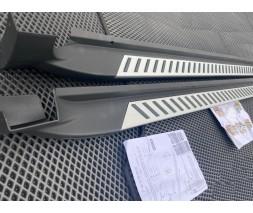 Toyota Sienna 2010-2019 гг. Боковые подножки Оригинал (2 шт, алюм.)
