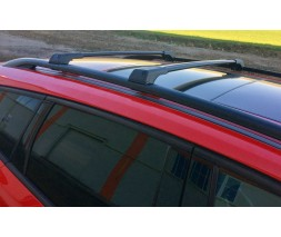Lada Granta Перемычки на рейлинги без ключа (2 шт) Черный