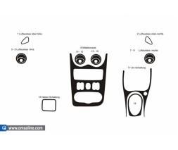 Lada Largus Накладки на панель (вариант 1) Карбон