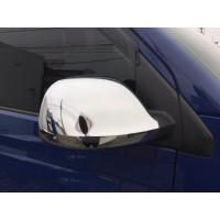 Накладки на зеркала (2 шт, ABS) Carmos - Хромированный пластик для Volkswagen Amarok