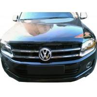 Накладки на решетку (узкие полоски, 4 шт, нерж) OmsaLine - Итальянская нержавейка для Volkswagen Amarok