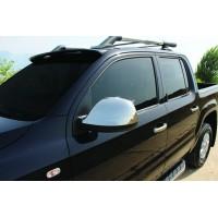 Накладки на зеркала (2 шт, нерж.) Carmos - Турецкая сталь для Volkswagen Amarok