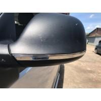 Полоски на зеркала (2 шт, нерж) для Volkswagen Amarok