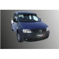 Козырек на лобовое стекло (черный глянец, 5мм) для Volkswagen Caddy 2004-2010